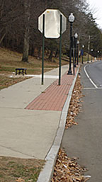 granite curbing, transition curbs, sidewalk pavers